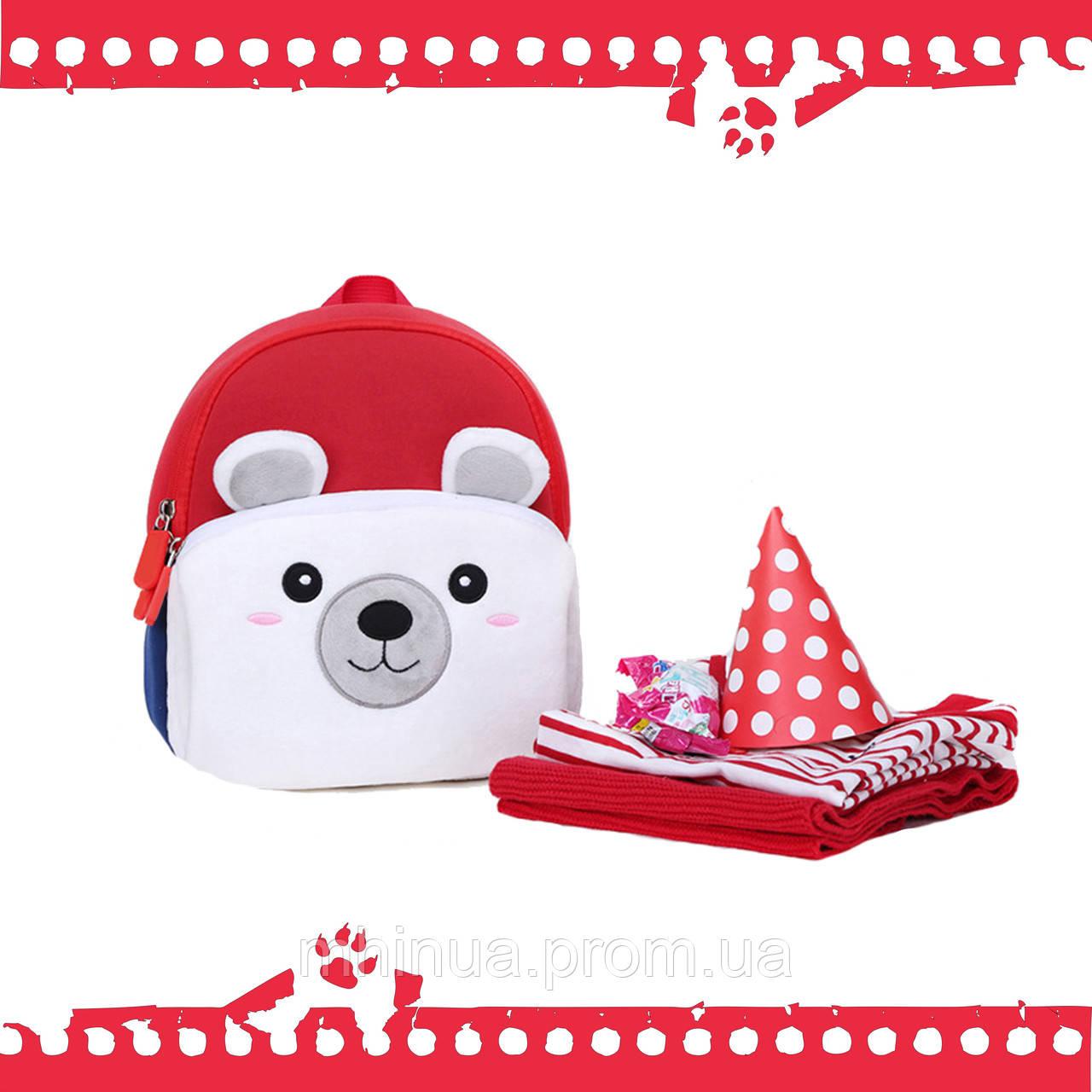 Дитячий рюкзак Nohoo Ведмедик з муфтою (NHQ004)