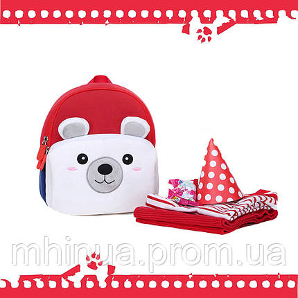 Дитячий рюкзак Nohoo Ведмедик з муфтою (NHQ004), фото 2