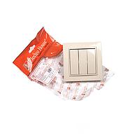 ElectroHouse Выключатель тройной латте Enzo EH-2185