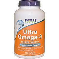 Супер омега 3, Omega-3, Now Foods, 500 EPA/250 DHA, 90 капсул