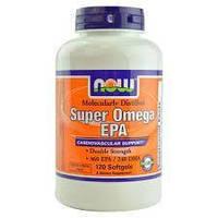 Усиленная омега 3 NOW Super Omega EPA 1,200 мг - 120 софт кап