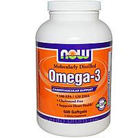 Жирные кислоты NOW Omega-3 1000 мг - 500 софт кап