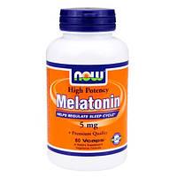 NOW_Melatonin 5 мг - 60 веган кап
