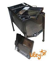 Стол для Распечатывания сот - 1 метр, 2 плоские корзины, толщина 0,8 мм, фото 1