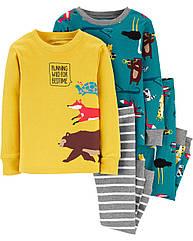 """Пижамы для мальчика Carter's """"Лесные животные"""", детская пижама картерс"""