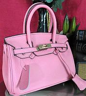 Женская брендовая кожаная сумка  Биркин 20см мини Original quality. Скмочка Hermes кожа того.