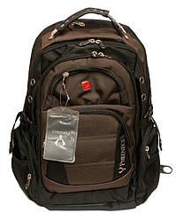 Городской ортопедический рюкзак Wenger Swissgear 8810 Швейцарский Оригинал Коричневый