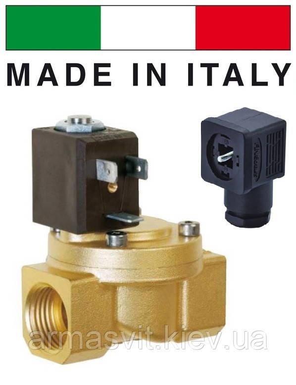"""Электромагн. клапан СЕМЕ (Италия) 8514, НЗ, 1/2"""", 90 C, 220В нормально закрытый для воды, воздуха."""