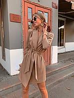 Платье пиджак мокко 42-44, 44-46 р-р.