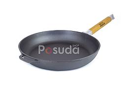 Сковорода чугунная со съемной ручкой Оптима Биол 20 см 0120