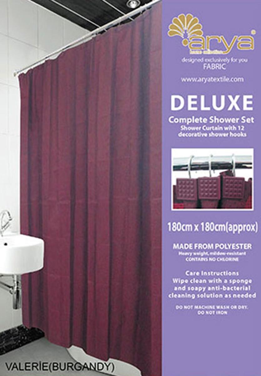 Шторка для ванной Arya 180x180 Valerie Burgundy (1353034)