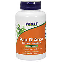 По д'арко, Pau D' Arco, Now Foods, 500 мг, 100 капсул, фото 1