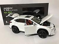 Машинка коллекционная Lexus NX200T металлическая модель в масштабе 1:32  Белая