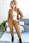 Костюм однотонный укороченные брюки пиджак с поясом ( 8991-1 ), фото 3