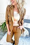 Костюм однотонный укороченные брюки пиджак с поясом ( 8991-1 ), фото 5