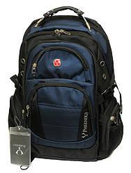 Городской ортопедический рюкзак Wenger Swissgear 8810 Швейцарский Оригинал Темно-синий