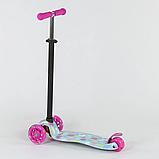 """Самокат А 25530/779-1328 MAXI """"Best Scooter"""" пластмассовый, 4 колеса PU,свет,трубка руля алюминиевая, d=12 см, фото 2"""