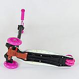 """Самокат А 25530/779-1328 MAXI """"Best Scooter"""" пластмассовый, 4 колеса PU,свет,трубка руля алюминиевая, d=12 см, фото 3"""