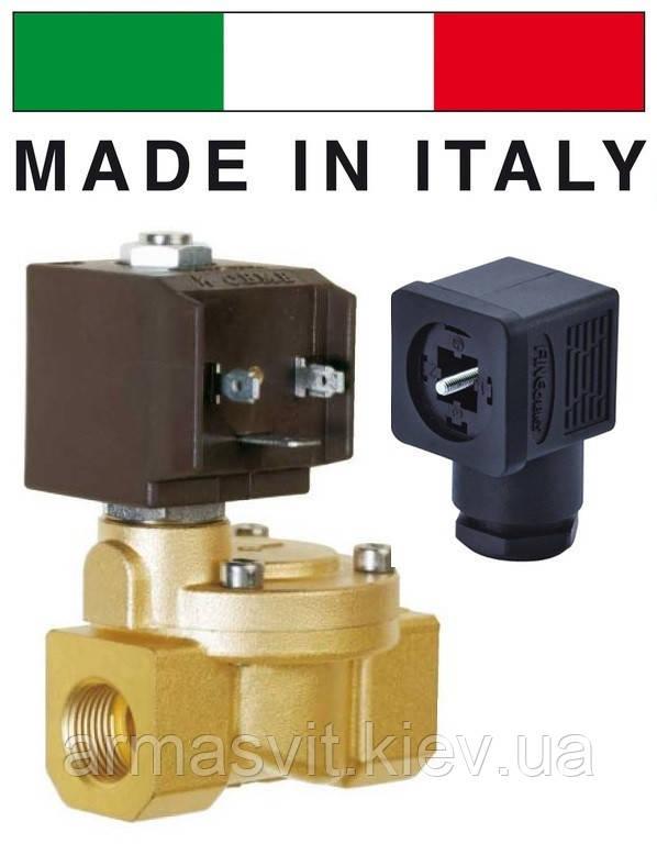 """Электромагн. клапан CEME (Италия) 8616, НЗ, 1"""", 90 C, 220В нормально закрытый для воды, воздуха."""