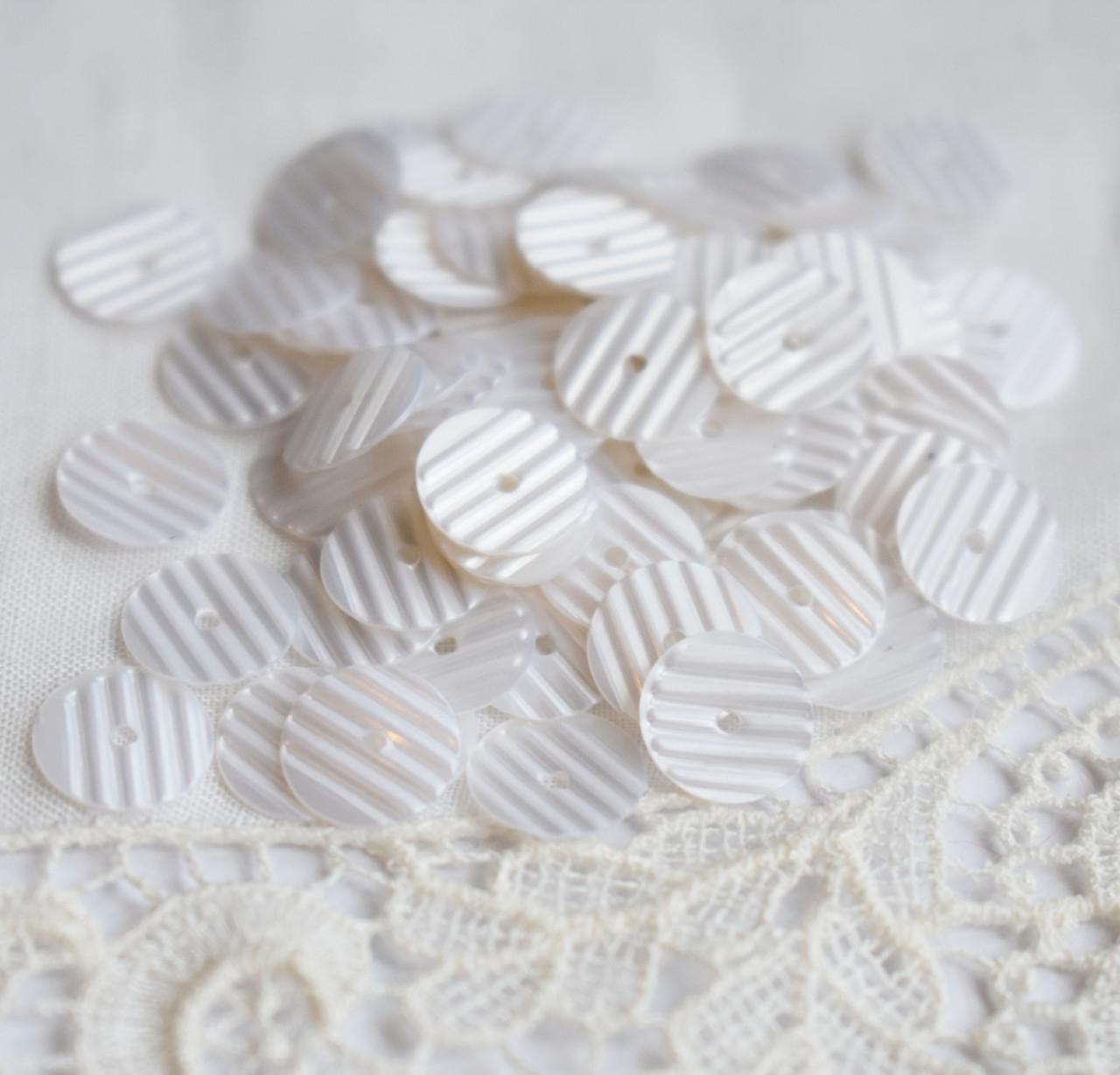 Пайетки рифленые 8 мм, жемчужные , 3 грамма