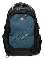 Городской ортопедический рюкзак Wenger Swissgear 8810 Швейцарский Оригинал Синий