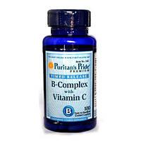 Комплекс Vitamin B-Complex + Vitamin C Time Release - 100 каплет