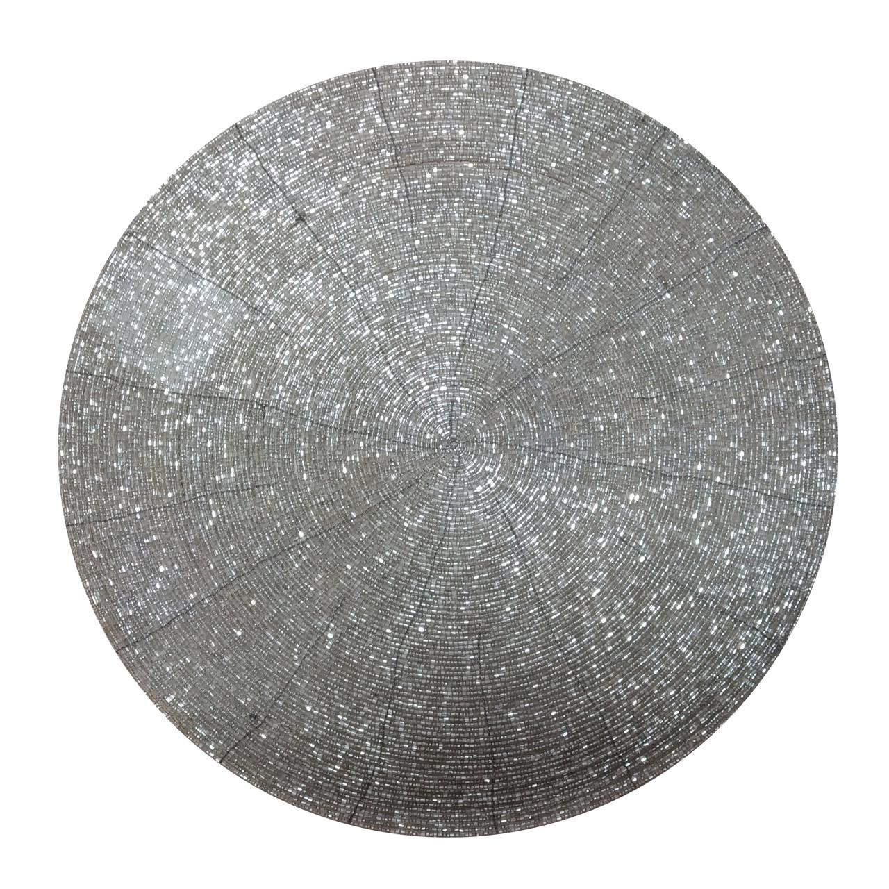 Подкладка под тарелку Henriette 35 см серебро D15509
