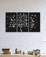 Декоративное металлическое панно c дизайном дерева осенью., фото 1