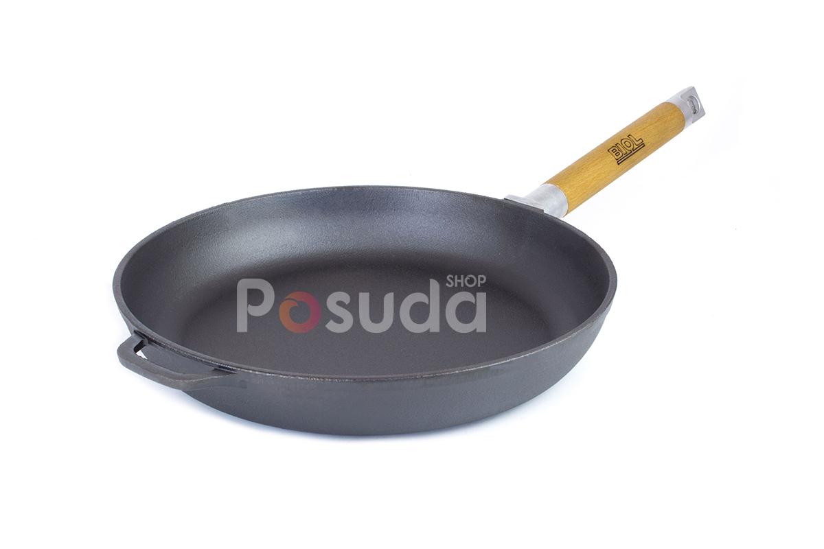 Сковорода чугунная Биол Оптима низкая со съемной ручкой 28 см 0128