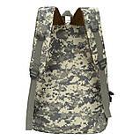 Рюкзак міський тактичний темно-сірий камуфляж з шевроном SWAT, фото 3