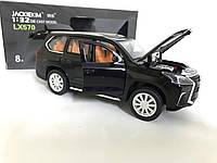 Машинка коллекционная Lexus LX570 металлическая модель в масштабе 1:32 Черная XLG