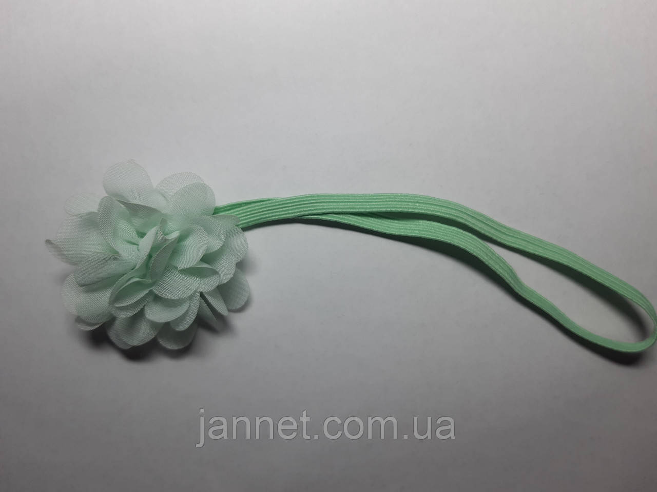Ментоловая повязка на голову для детей - на 0-3 года, бантик 5см