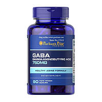 ГАМК (гамма-аминомасляная кислота) GABA (Gamma Aminobutyric Acid) 750 mg - 90 кап