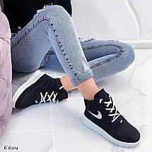 Черные высокие кроссовки, фото 2