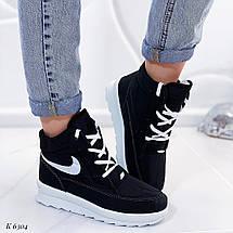 Черные высокие кроссовки, фото 3