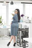 Платье на запах, отлично подчеркивает декольте и показывает шикарные ноги  р.50-52,54-56  код 5163А, фото 6