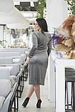 Платье на запах, отлично подчеркивает декольте и показывает шикарные ноги  р.50-52,54-56  код 5163А, фото 8