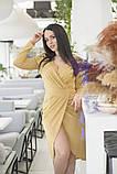 Платье на запах, отлично подчеркивает декольте и показывает шикарные ноги  р.50-52,54-56  код 5163А, фото 3