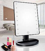 Зеркало с подсветкой для макияжа ( настольное зеркало с LED подсветкой ) 22 led, фото 3