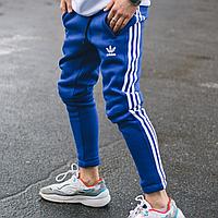 Штаны спортивные мужские теплые Adidas синие
