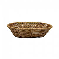 Корзина плетеная овальная для хлеба 25х16,5х5см (арт. 7316)