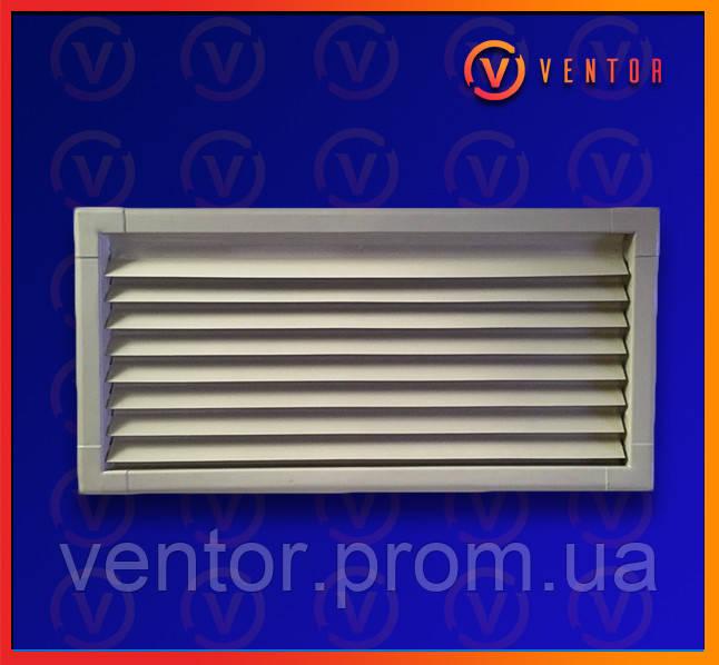 Вентиляционная металлическая решетка 200х440 мм, белая.
