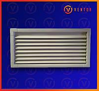 Вентиляционная металлическая решетка 200х440 мм, белая., фото 1