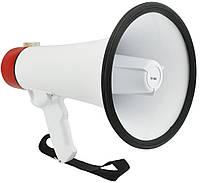 🔝 Рупорный ручной громкоговоритель с микрофоном Megaphone ER-55U 25W рупор уличный с USB и MicroSD    | 🎁%🚚