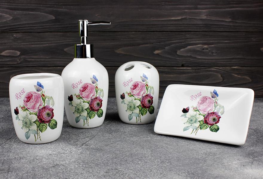 Набор аксессуаров для ванной Stenson  R22344 Rose 4 предмета