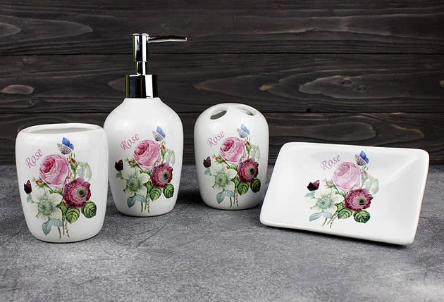 Набор аксессуаров для ванной Stenson  R22344 Rose 4 предмета, фото 2
