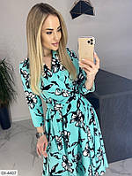 Красивое платье под поясок миди, фото 1