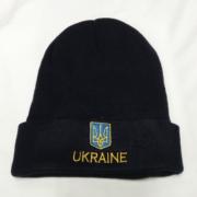"""""""Шапка Ukraine"""", двухстороння чорна"""