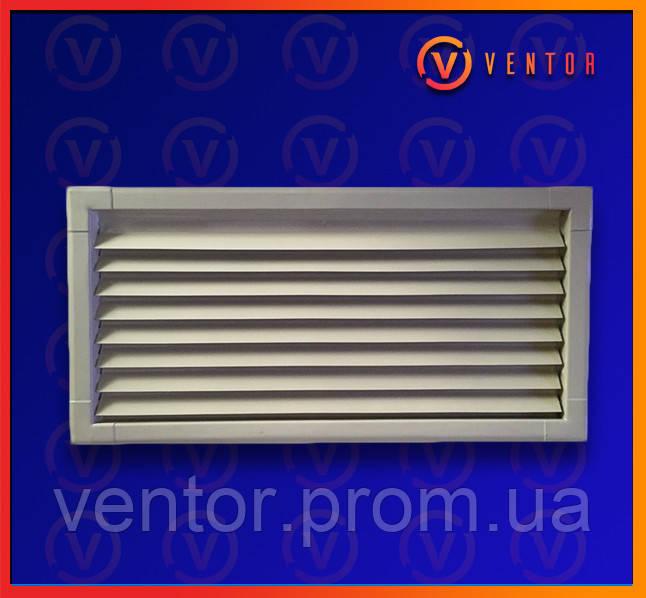 Вентиляционная металлическая решетка 220х440 мм, белая.