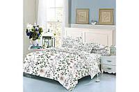 """Комплект постельного белья хлопковый полуторный с цветами """"Nature"""""""